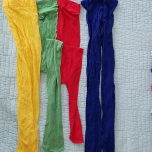 Accessories - Yellow, blue and red/green panty hose